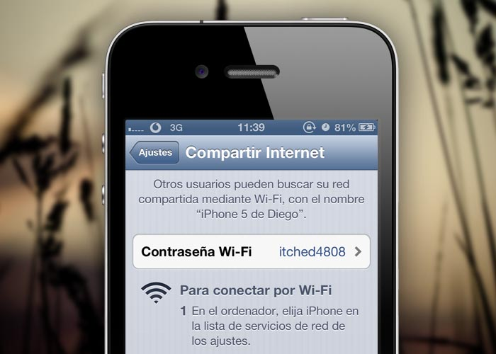 Cómo compartir internet con un iPhone X